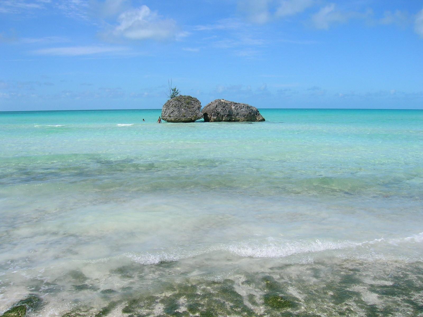 Twin Sisters beach Eleuthera