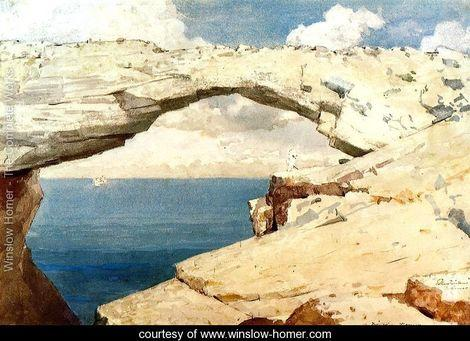 Glass Window bridge by Winslow Homer